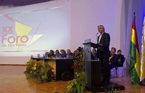 Momento de la intervención del vicepresidente de Bolivia, Álvaro García Linera.