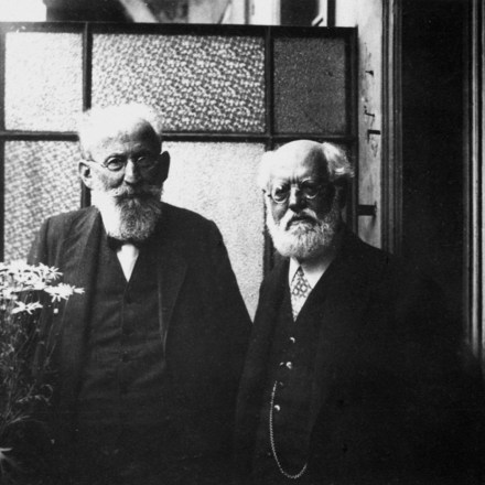 Eduard Bernstein y Karl Kautsky, dos revisionistas del marxismo.