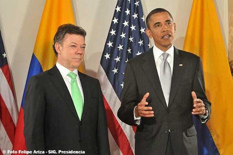 Santos y Obama el 24 de septiembre de 2010 en Nueva York.