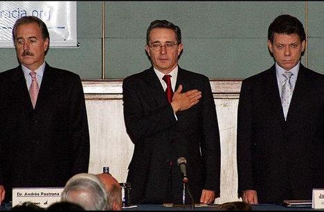 Pastrana, Uribe, Santos