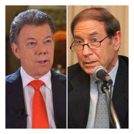 J.M. Santos y el asesor israelí Shlomo Ben Ami.