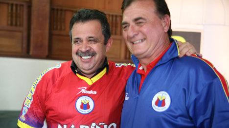 El gobernador Raúl Delgado Guerrero le aportó 2.300 millones de pesos al Club, pero aún no cancelan las acreencias. Foto Gobernación de Nariño.
