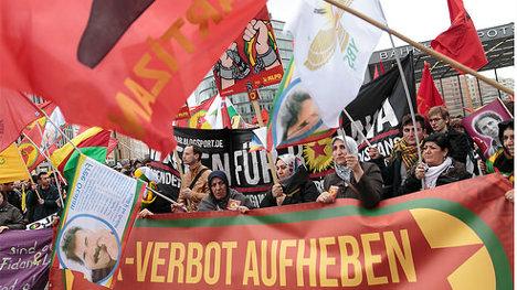 Manifestación a favor de la autodeterminación del pueblo kurdo, en Berlín. Foto: PKK Verbot via photopin (license)