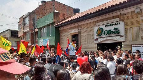 Sepelio del líder juvenil Klaus Zapata, en Soacha, Cundinamarca.