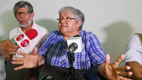 Imelda Daza, líder de la Unión Patriótica y víctima de atentado.