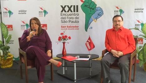 Representantes del FMLN informaron los detalles de la jornada. | Foto: @Ernesto_teleSUR
