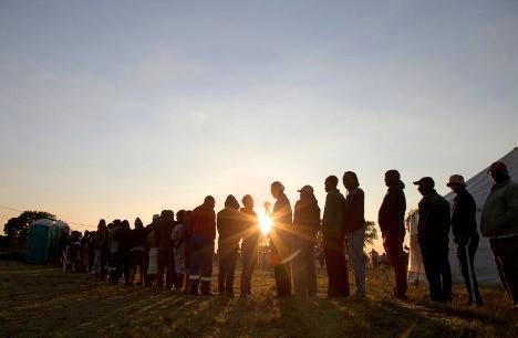 Electores sudafricanos. Rogan Ward - Reuters.